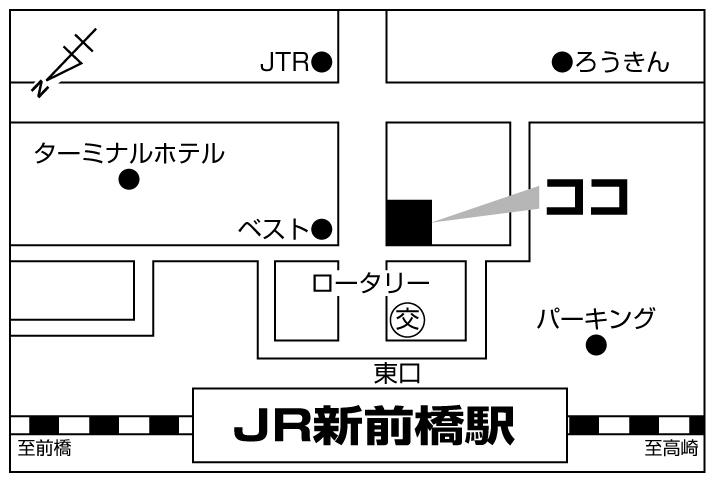 庄や 新前橋店店舗地図ご案内