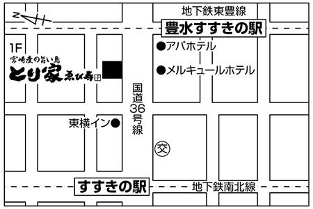 とり家ゑび寿 すすきの南四条店店舗地図ご案内