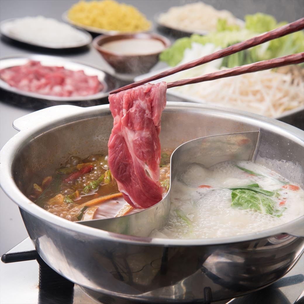 【羊肉酒場 悟大】季節のメニュー『生ラム肉・火鍋』